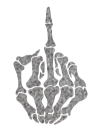 Skeleton Middle Finger - Ryderdie Designs