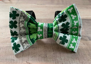 Shamrock Lineup Pet Bow - Ryderdie Designs