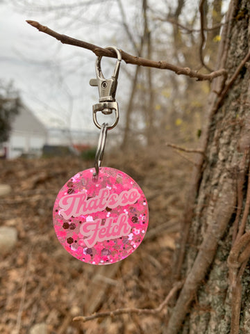Pre-made Tag// That's So Fetch 1.5 inch Round Dog Tag - Ryderdie Designs