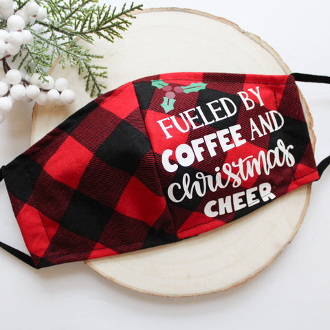 Buffalo Plaid Christmas Cheer Mask