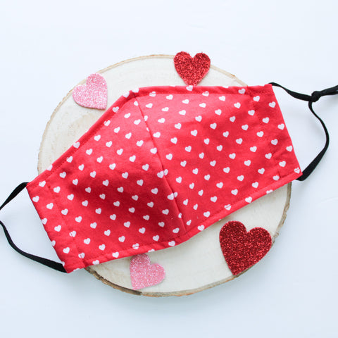 Red Hearts Mask
