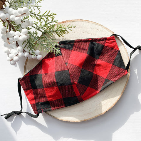 Buffalo Plaid Mask