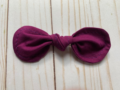 Solid Purple Rounded Bow