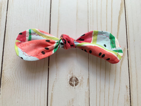Watermelon Sugar Rounded Bow