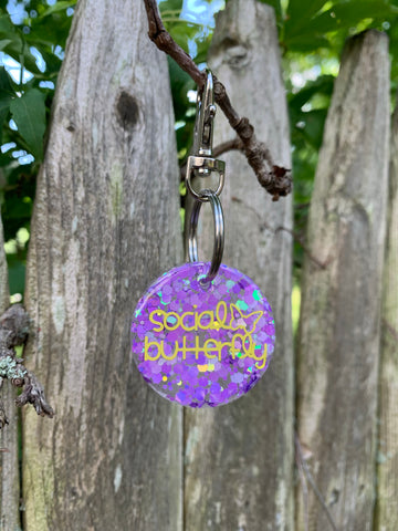 Pre-made Tag// Social Butterfly - Ryderdie Designs
