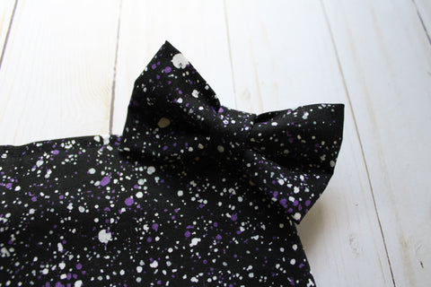 Purple Splatter Bow