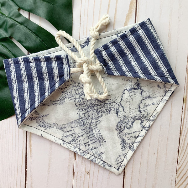 Navy And Nautical Bandana - Ryderdie Designs