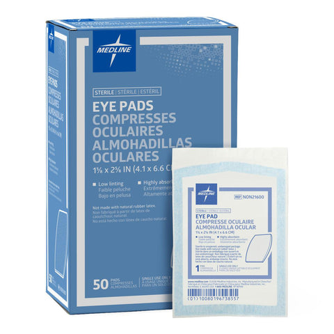 FSEYEPAD EYE PAD MEDIUM 4.1CM X 6.6CM STERILE 1'S BOX/50EA