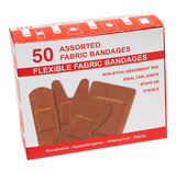 FSFBAN50 50PC ASSORTED FLEXIBLE FABRIC BANDAIDS 200 BOXES/CTN