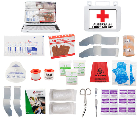 FSAB116U - ALBERTA #1 FIRST AID KIT (16 Unit Metal Box)
