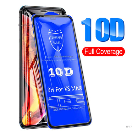 iPhone XS Max 5D Full cover Ultra Clear Tempered Glass Screen Protector