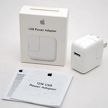 12W USB Power Adaptor for Apple iPhone iPad Charger