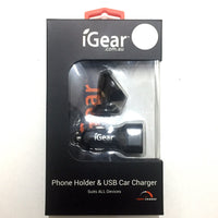 Charger Auto 2.4A & Magnetic Phone Holder Combo