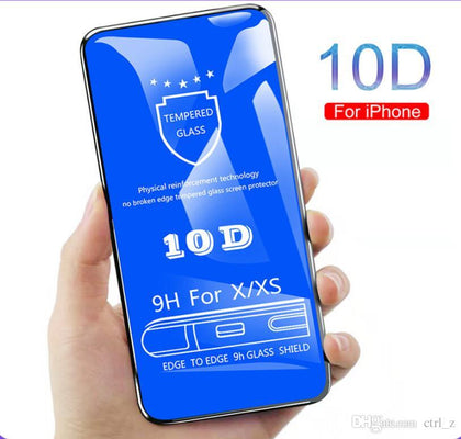 iPhone X, XS 5D Full cover Ultra Clear Tempered Glass Screen Protector