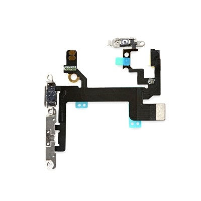 iPhone 5S Power Flex Cable Volume Buttons Mute Switch With Brackets and Flash