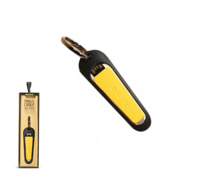 Remax RC-024i Key Ring Chain Lightning USB Cable Yellow