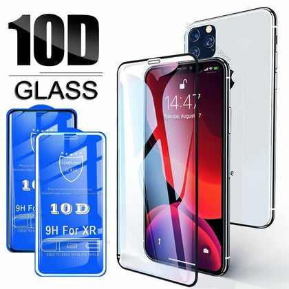 iPhone XR 5D Full cover Ultra Clear Tempered Glass Screen Protector