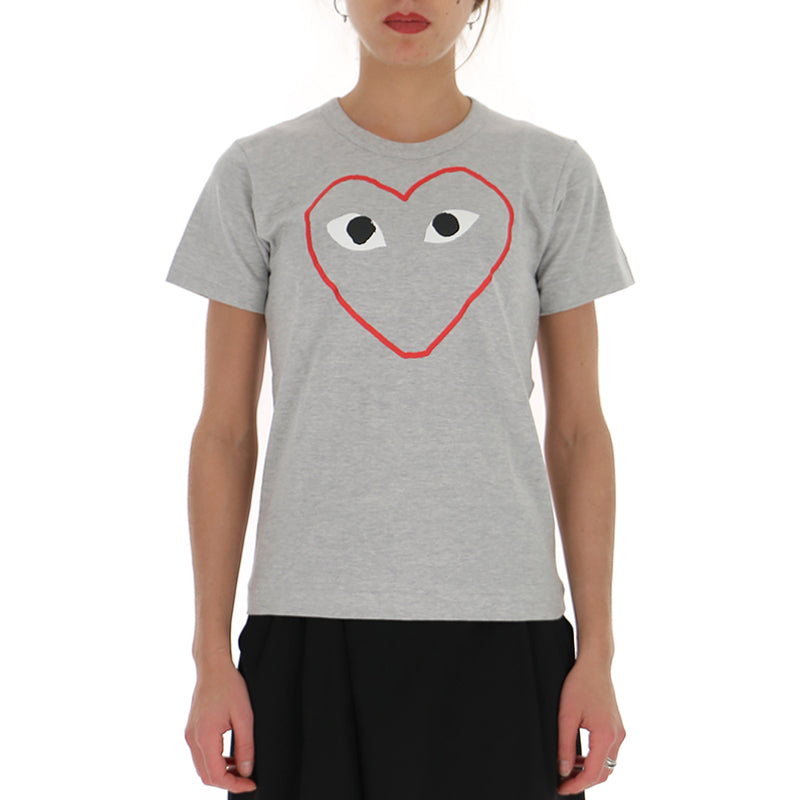 Comme des Garcons Play レディース グレー Tシャツ P1T2651