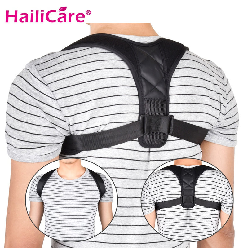 Upper Back Brace Support Belt Adjustable Corrector