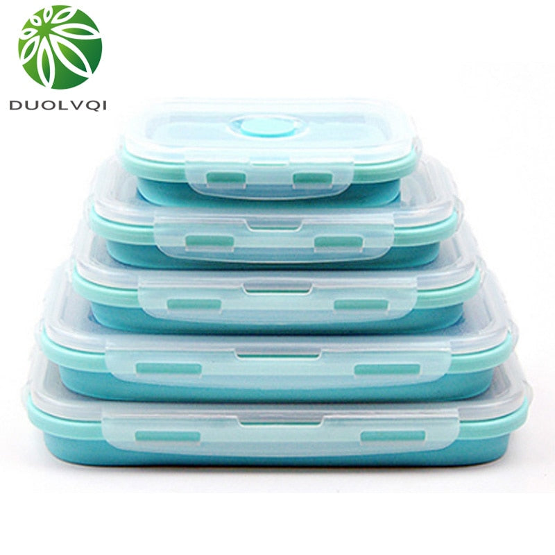Foldable Silicone Food Lunch Box