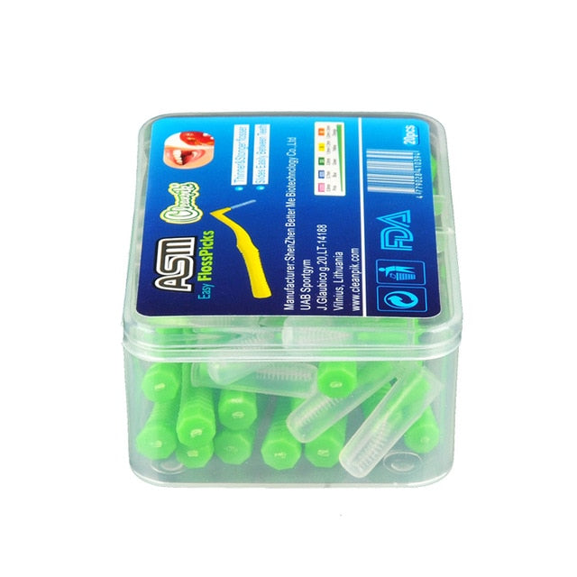 20PCS L Shaped Denta Floss Interdental Cleaners