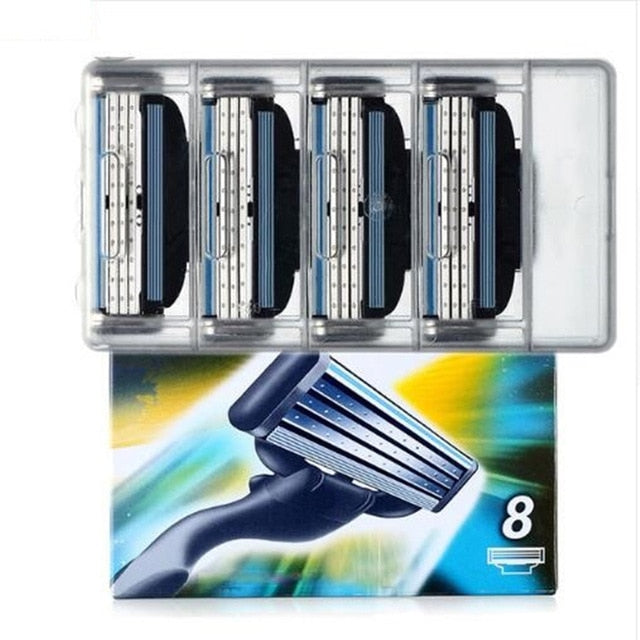 4pcs/lot Excellent Shaving 5 Layers Razor Blades Compatible for Gillette Fusion For Men Face Care or Mache 3
