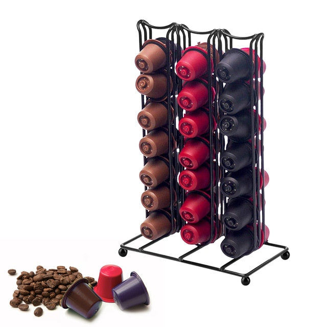 Stainless Steel 40 Cups Nespresso Coffee Capsules Pods Holder
