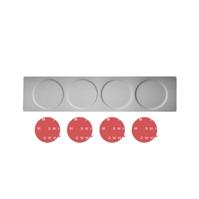 Magnetic Spice Jars With Wall Mounted Rack Stainless Steel
