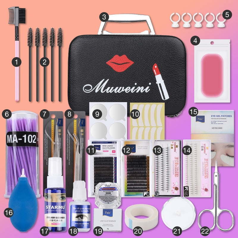 22pcs Eyelash Extension Set