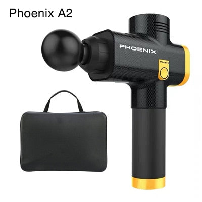 Phoenix A2 muscle massage gun high frequency Electric body massager Clear Lactic acid portable bag after exercise