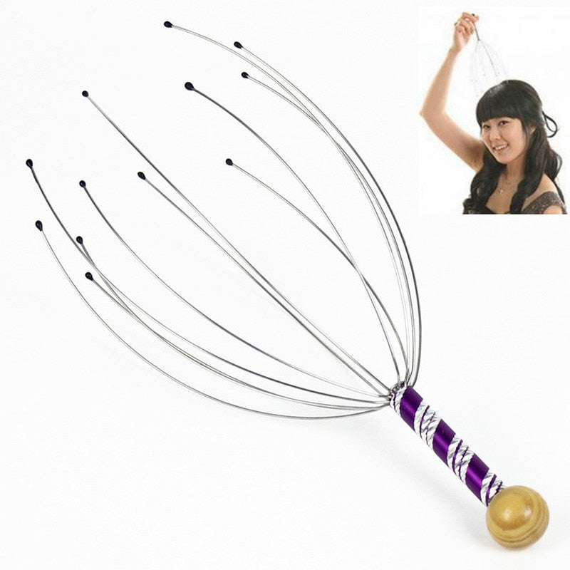 Head Massager Neck Massage Octopus Scalp