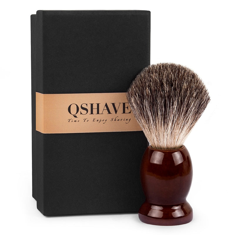 Qshave Pure Shaving Brush Wood