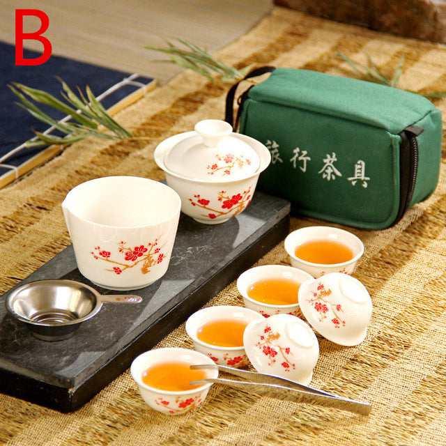 Chinese Travel Kung Fu Tea Set Ceramic Portable