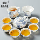 TANGPIN blue-and-white exquisite ceramic teapot kettles tea cup chinse kung fu tea set