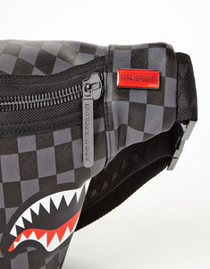 Shark In Paris (Black Checkered Edition) Crossbody