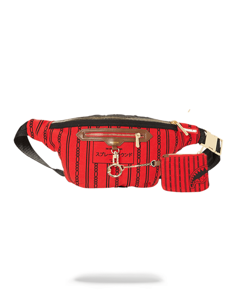 Reverse Shark In Paris Crossbody (Red)