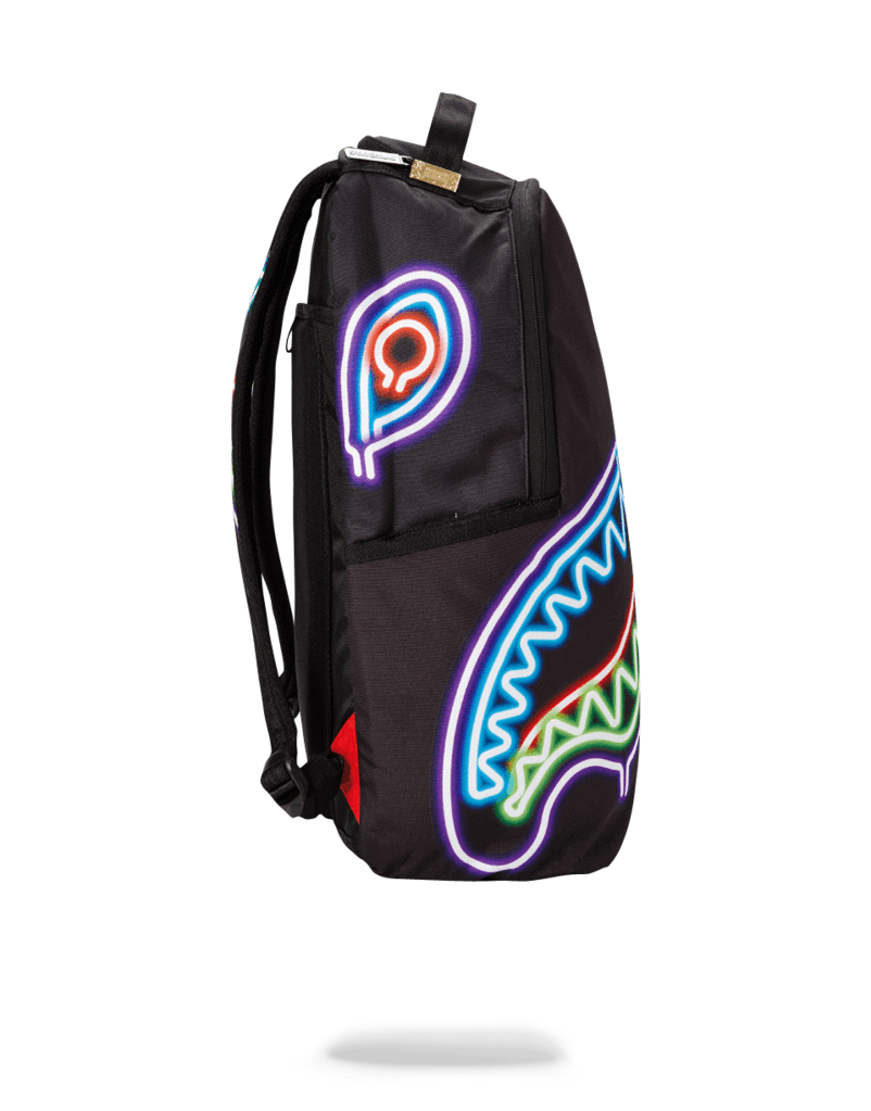 Neon Shark Backpack