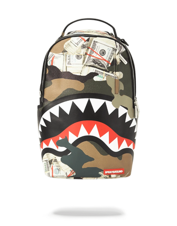 Sprayground Camo Money Shark