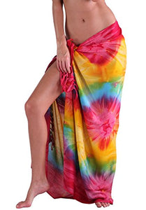 INGEAR Beach Long Batik Sarong Womens Swimsuit Wrap Cover Up Pareo with Coconut Shell Included