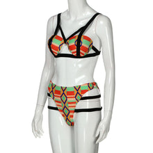 Load image into Gallery viewer, Bikini Set, Womens African Print Inspired Two Piece Bathing Suit Swimwear Bikinis