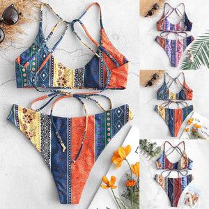 Napoo Bikini Set, Tribal Print Swimsuits for Women, Boho Swimsuits for Women, African Bathing Suits for Women