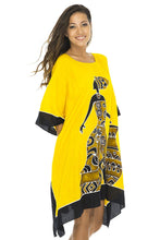 Load image into Gallery viewer, Back From Bali Womens Short African Beach Swim Suit Cover Up Caftan Poncho