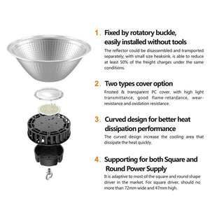 250w hera high bay for warehouse lighting