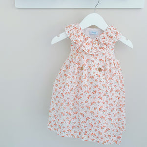 CLARA - Foque Coral Floral Dress
