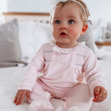 Load image into Gallery viewer, ALMA - Babidu Pale Pink Velour Sleepsuit