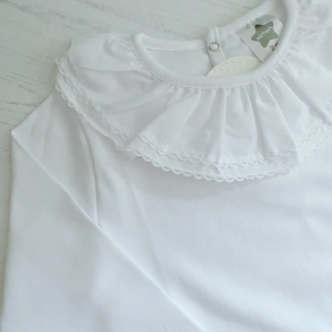 Minhon White Frill Top