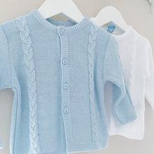 Load image into Gallery viewer, CHARLIE - Sardon Cardigan in White or Pale Blue