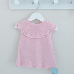MAISIE - Artesania Granlei Pink Knitted Dress
