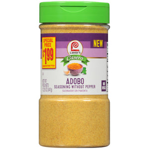 Lawry's® Casero Without Pepper Adobo Seasoning, 12.25 oz (2-pack)