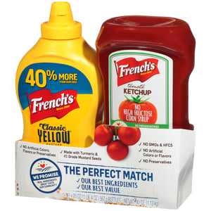 French's The Perfect Match Bundle Classic Yellow Mustard & Tomato Ketchup, 40 OZ